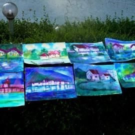 Пейзаж, акварел - деца рисуване Юнити Академия