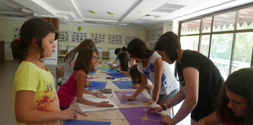 12. Юнити Академия - детски летен лагер - рисуване